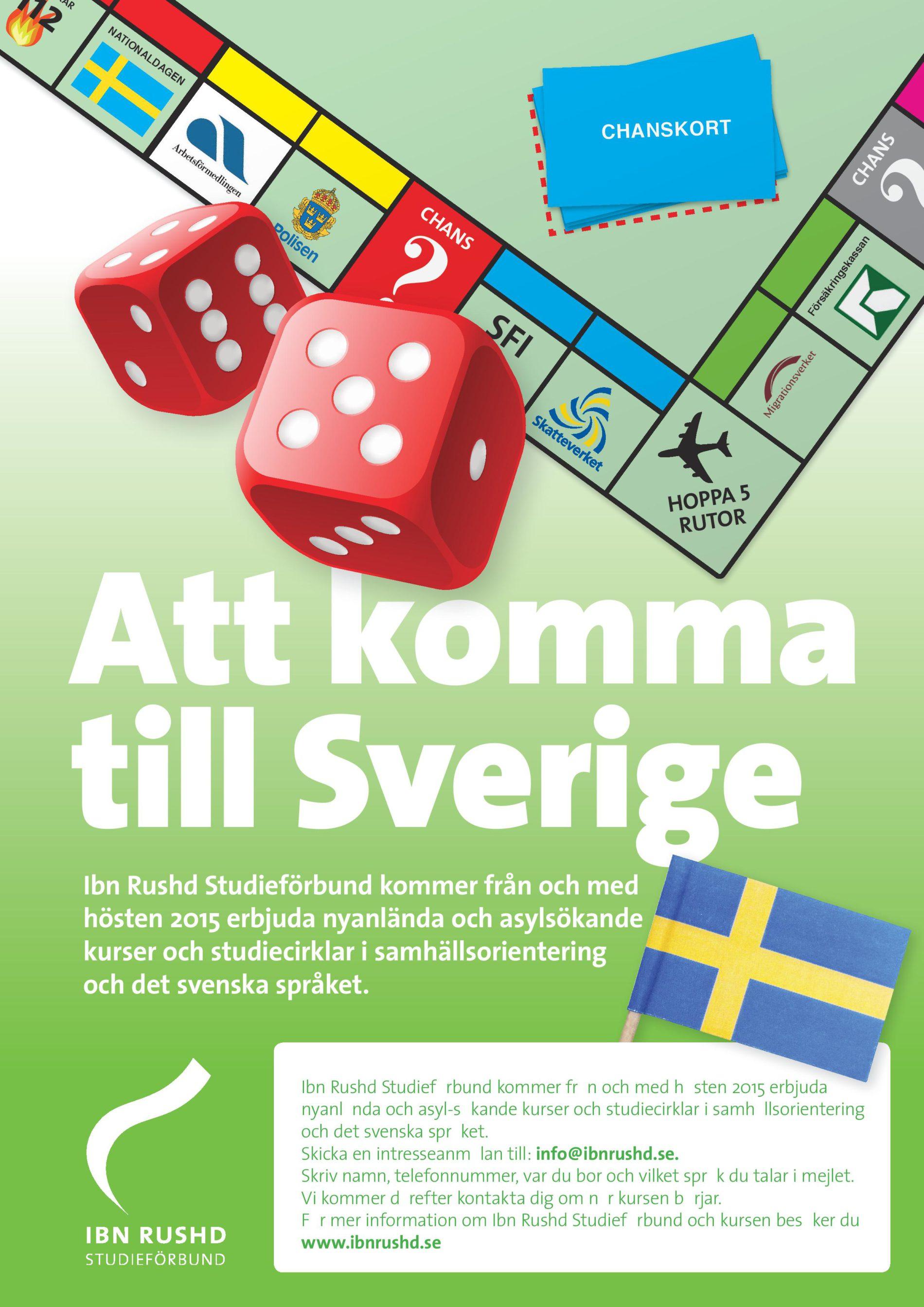 Att komma till Sverige – Ibn Rushd Studieförbunds verksamhet för asylsökande