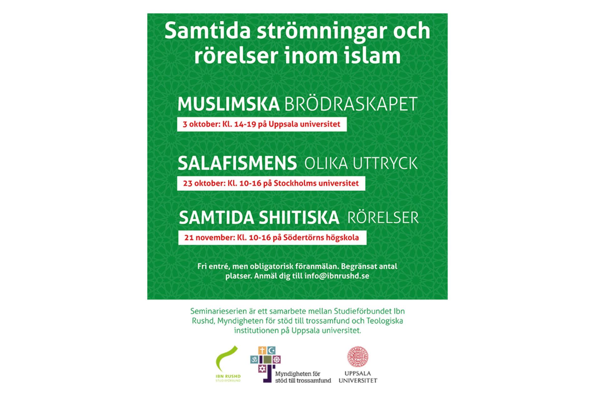 Föreläsningsserie om samtida rörelser inom islam