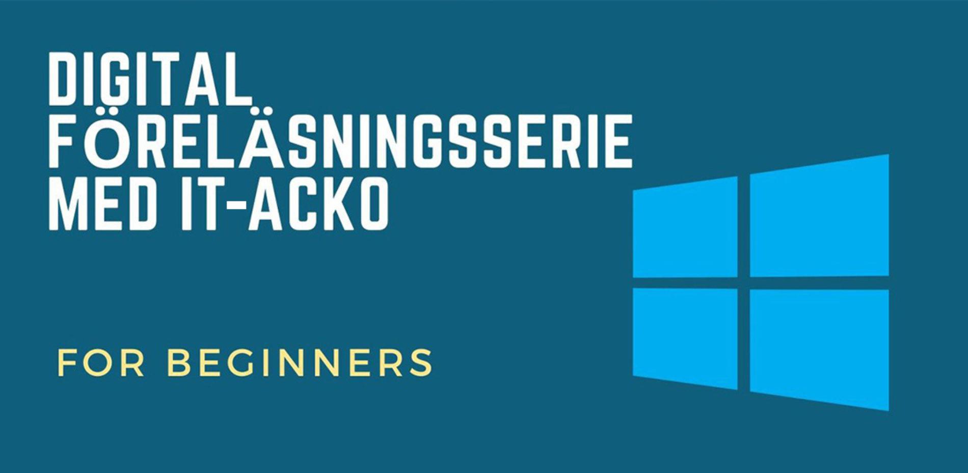 Nybörjarkurs: Digitala verktyg med IT-Acko