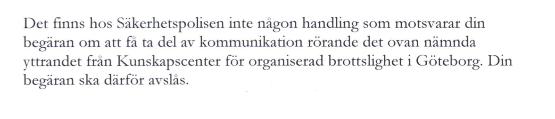 Samlad bedömning del 6. Säger Säpo att Ibn Rushd har ett extremistproblem?